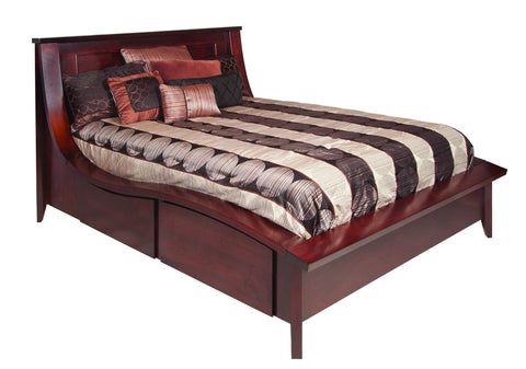 Kingston Collection Solid Hardwood Wave Bed at HomePlex Furniture USA made Quality Furniture