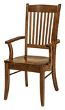 Solid Hardwood Dining Room Linzee Chair - HomePlex Furniture Featuring USA Made Quality Furnitur