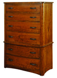 Meridian Solid Hardwood Chest on Chest