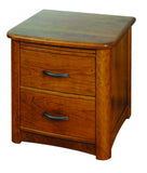 Meridian Solid Hardwood 2 Drawer Nightstand