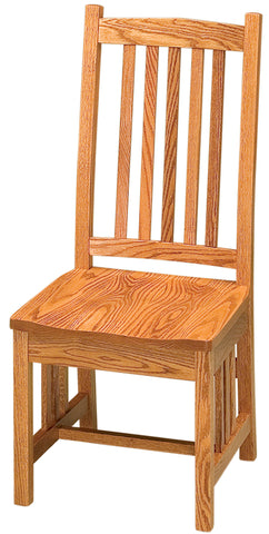 Solid Hardwood Dining Room Mission Chair - HomePlex Furniture Featuring USA Made Quality Furnitur