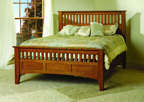 Misson Bed Collection Solid Hardwood Bedroom at HomePlex Furniture USA made Quality Furniture