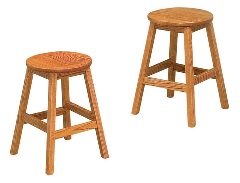 Solid Hardwood Dining Room Oakley Stool Chair - HomePlex Furniture Featuring USA Made Quality Furniture