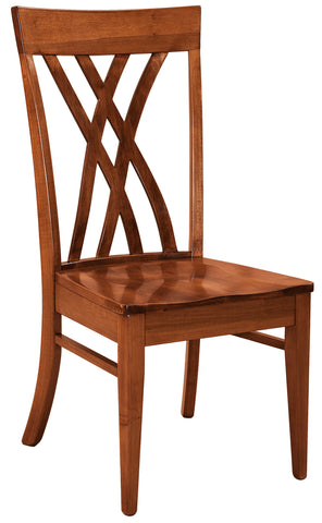Solid Hardwood Dining Room Oleta Chair - HomePlex Furniture Featuring USA Made Quality Furniture
