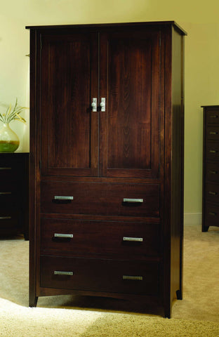 Riverview Collection Armoire Solid Hardwood Bedroom at HomePlex Furniture USA made Quality Furniture