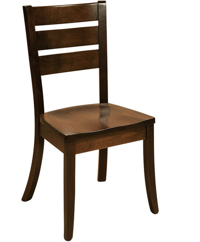 Solid Hardwood Dining Room Savannah Chair - HomePlex Furniture Featuring USA Made Quality Furnitur