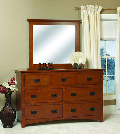 Siesta Collection Dresser 1 Solid Hardwood Bedroom at HomePlex Furniture USA made Quality Furniture