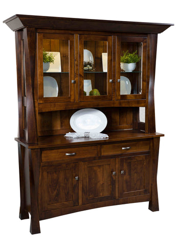 Attirant Solid Hardwood Lexington Buffet With Optional Hutch   HomePlex Furniture  Featuring USA Made Quality Furniture