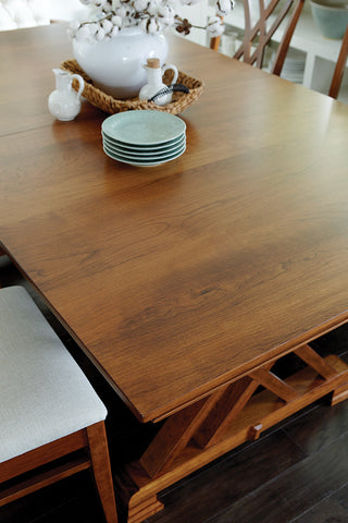 Hayerly Solid Hardwood Dining Room Tables Indianapolis Fishers and  Carmel. Solid Hardwood Heyerly Trestle Dining Room Table   HomePlex Furniture