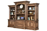 Solid Hardwood Montreau Series Office Furniture Base & Hutch HomePlex Furniture Indianapolis In