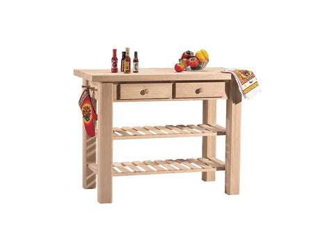 Solid Hardwood WC-4824 Kitchen Island at HomePlex Furniture Featuring USA made Quality Furniture