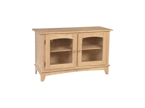 Solid Wood TV Console at HomePlex Furniture Featuring USA Made Indianapolis Indiana