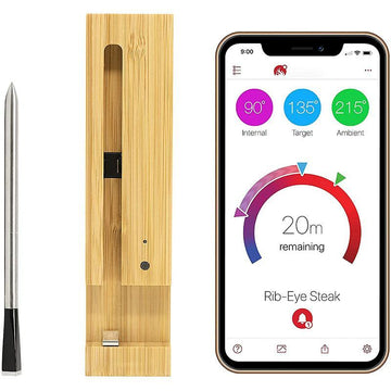 Wireless Bluetooth Meat Thermometer Waterproof BBQ Food Steak for Oven Grill Smoker Rotisserie Smart Digital Barbecue Accessorie