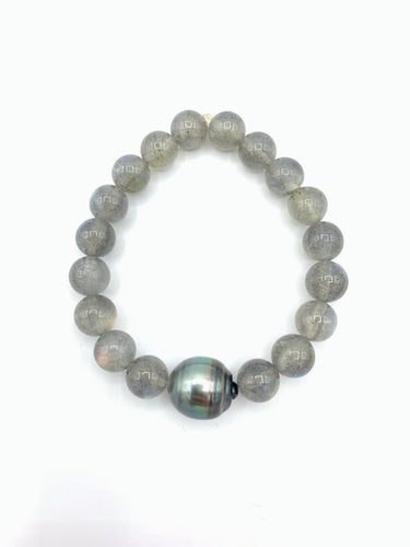 One Pearl & Gray Bracelet