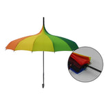 x100 Rainbow Umbrellas, Umbrella display, Rainbow display