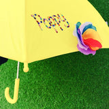 Childrens Personalised Flower Umbrellas