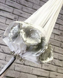 White Flower Time Umbrella
