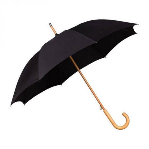 Kingsman Style Black Umbrella with wooden handle