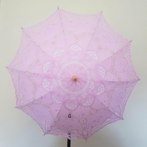 Baby Pink Lace Parasol