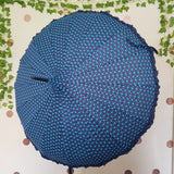 Navy Polka Dot Frilled Pagoda