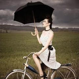 Wooden Handle Umbrella - available in 13 colours