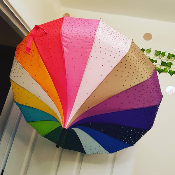 Full Ombre Sparkle Umbrella
