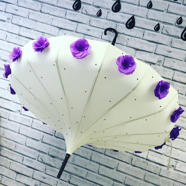 Ivory Flower Time Umbrella