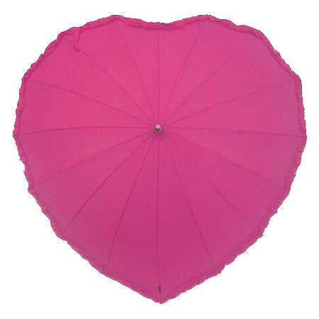 Frilled Hot Pink Heart Umbrella