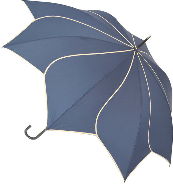Navy Blue Swirl Umbrella