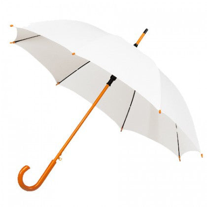 Wedding Umbrella Hire x10 Wooden Hooked Handle Umbrellas - 12 colours