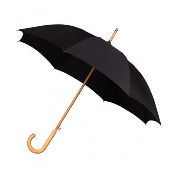 Black Wooden Handle Umbrella