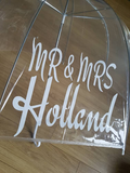 Personalised Mr & Mrs Umbrella