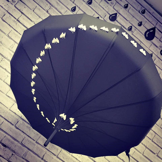 Butterfly Candy Pagoda Umbrella - Wedding Umbrella
