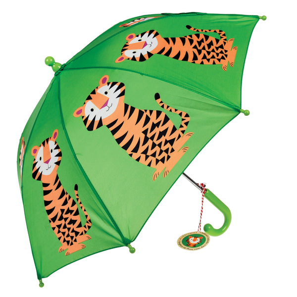 Tiger Print Childrens Umbrella