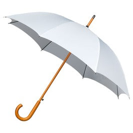 Premium White Wooden Handle Umbrella