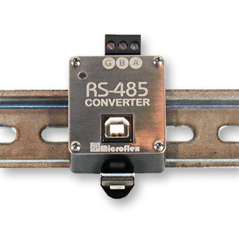 USB to 2-Wire RS-485 Converter, Galvanically Isolated, DIN Rail Mounted