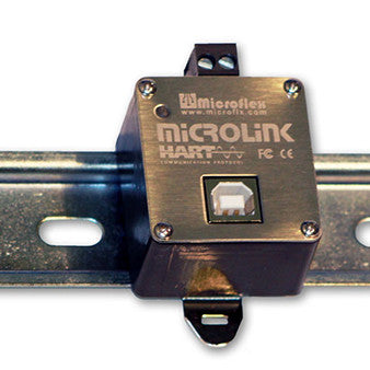 DIN Rail Mounted MicroLink HART Protocol Modem - USB Interface