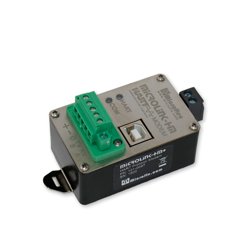 MicroLink-HM+ USB/RS-485/RS-232 HART Modem with Modbus Accumulator