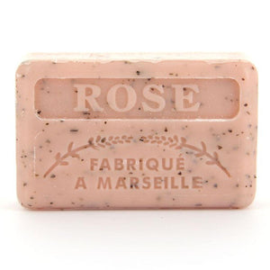French Marseille Soap Rose broye (Crushed rose petals) 125g