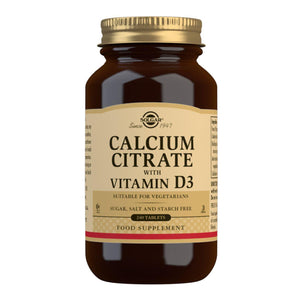 Calcium Citrate with Vitamin D3 - 240 Tablets