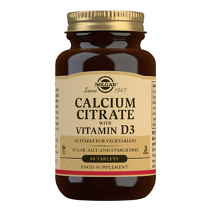 Calcium Citrate with Vitamin D3 - 60 Tablets