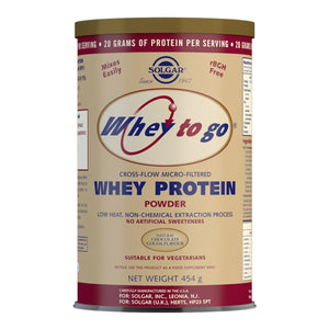 Whey To Go Chocolate Flavour Protein Powder - 454 g