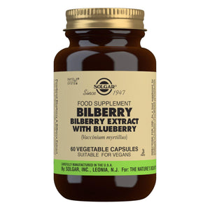Bilberry Berry Extract with Blueberry - 60 Vegetable Capsules