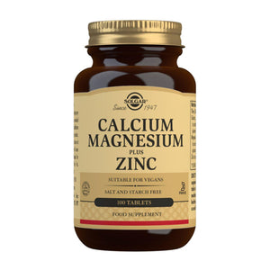 Calcium Magnesium Plus Zinc - 100 Tablets