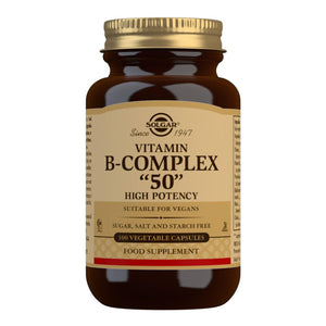 "Vitamin B-Complex ""50"" High Potency - 100 Vegetable Capsules"