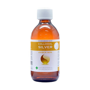 Amber 80% Colloidal Silver Solution Bottle 300ml