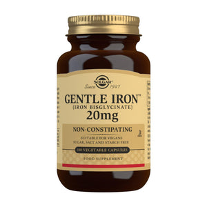 Gentle Iron (Iron Bisglycinate) 20 mg - 180 Vegetable Capsules
