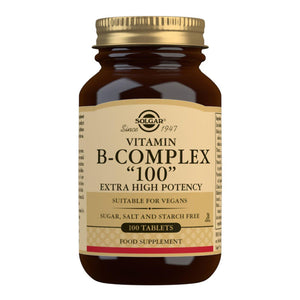 Vitamin B-Complex ''100'' Extra High Potency Tablets - 100 Vegetable Capsules