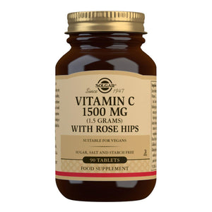 Vitamin C 1500 mg (1.5 grams) with Rose Hips - 90 Tablets