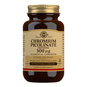 Chromium Picolinate 500 µg - 60 Vegetable Capsules